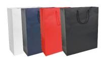 Shopper carta laminata opaca 18x7x25 cm