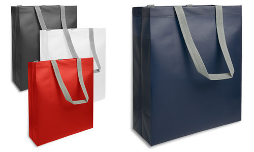 Shopper tnt laminato manici grigi Medium