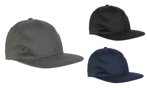 Cappellino in cotone pesante, 6 pannelli con visiera dritta stampabili con il vostro logo