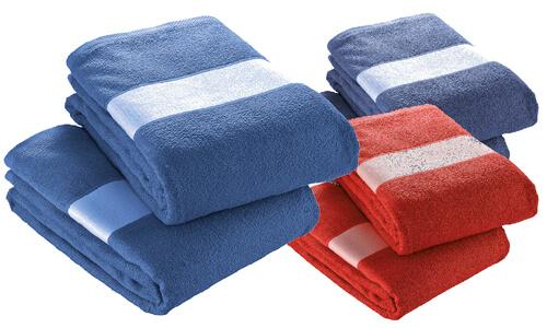 Asciugamano 30x50 cotone banda poliestere personalizzabili