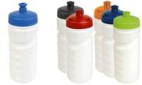 Borraccia plastica con tappo colorato