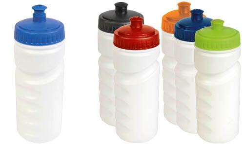Borraccia plastica con tappo colorato personalizzata