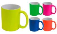 Tazza ceramica in colori fluo