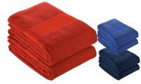 Asciugamano 50x100 spugna cotone banda opaca