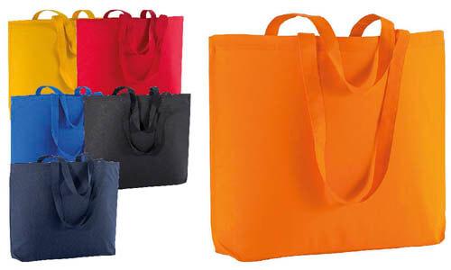 Shopper cotone serie Big con soffietto alla base
