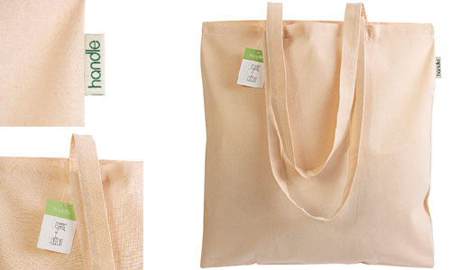 Shopper Ecru in cotone organico grammatura media