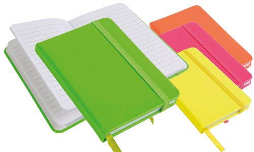 Quaderno copertina fluo con elastico personalizzabile sulla copertina