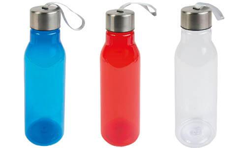 Borraccia plastica trasparente pubblicitarie