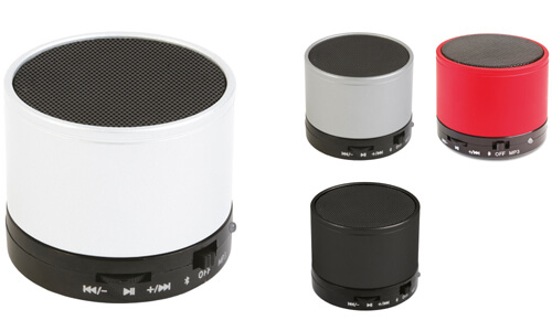 Speaker bluetooth cilindro metallo promozionale