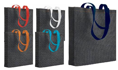 Shopper tnt effetto speciale Jeans, manici colorati