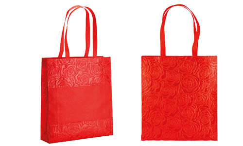 Shopper decorata con effetto Rose