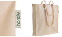 Shopper cotone organico e soffietto