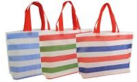Borsa shopper tnt righe colorate