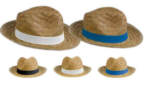 Cappello In paglia modello sombrero fascia personalizzabile