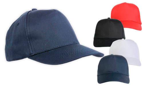 Cappellino 5 pannelli adulto taglia unica