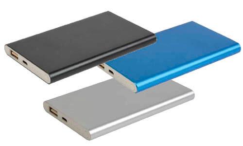 Power bank  alluminio satinato personalizzabile