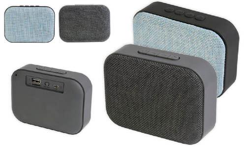 Speaker bluetooth tessuto personalizzato con il vostro logo