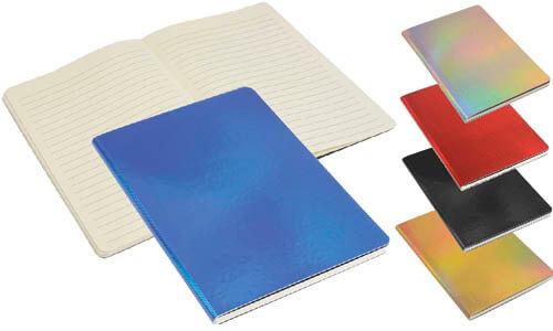 Quaderno a righe con copertina iridescente personalizzabile con il vostro logo