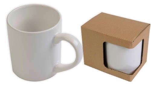 Tazza ceramica bianca pubblicitarie