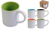 Tazza ceramica bianca con interno colorato