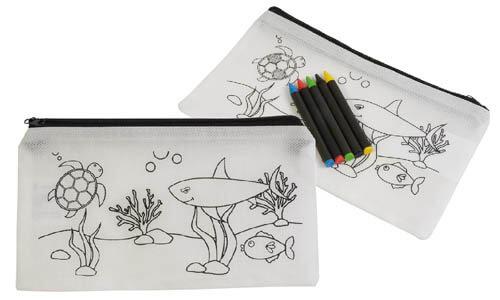 Set pastelli a cera in astuccio colorabile stampabili con il vostro logo