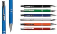 Penna alluminio Gommata colorata