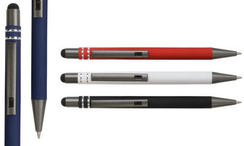 Penna a scatto in alluminio gommato Promozionale