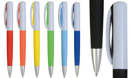 Penna plast.bicolor gommata refill jumbo