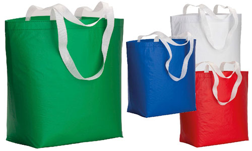 Shopper in materiale riciclato in RPET Laminata