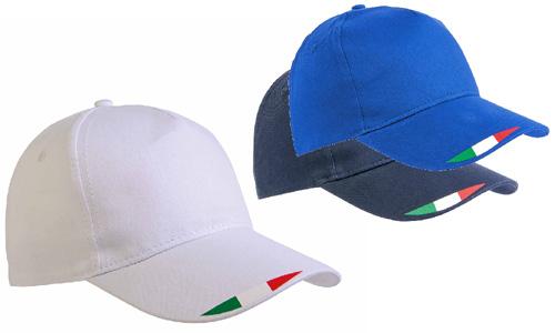 Cappellini stampa tricolore personalizzati