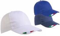 Cappellini in cotone tricolore