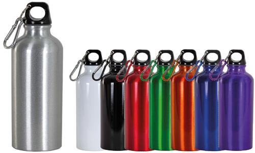 Borracce in alluminio con moschettone, Promozionali