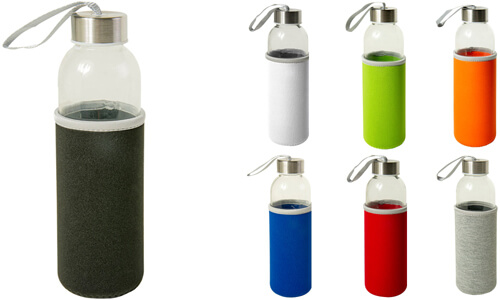 Bottiglia in vetro con tappo in acciaio Personalizzali con il tuo logo