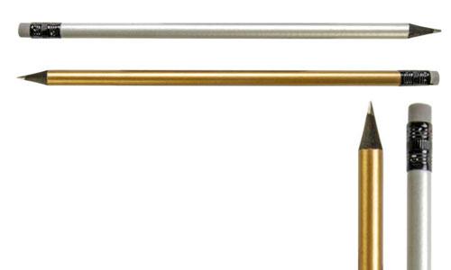 Matita in legno Oro - Argento personalizzabili