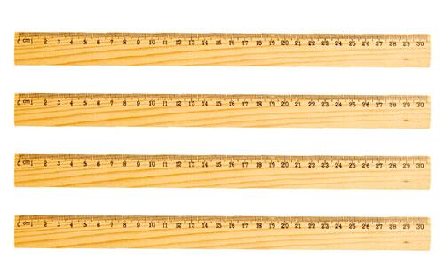 Righello in legno da 30 cm personalizzate