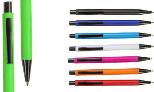 Penna a scatto in plastica con clip in metallo promozionale
