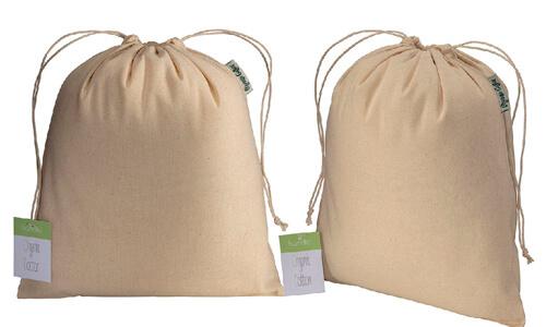 Sacchetto in cotone organico 25 x 30 cm personalizzate