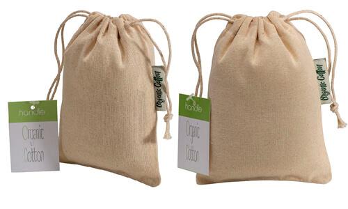 Sacchetto in cotone organico 10 x 14 cm personalizzate