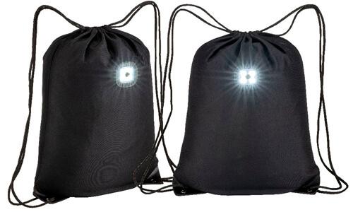 Zainetto in poliestere con luce personalizzate