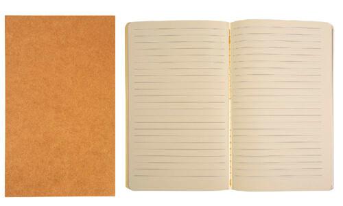 Quaderno in carta riciclata fogli avorio personalizzate