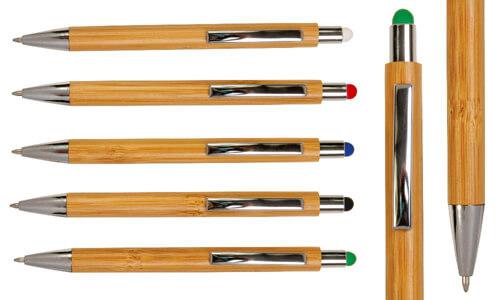 Penna a scatto touch colorato Promozionali