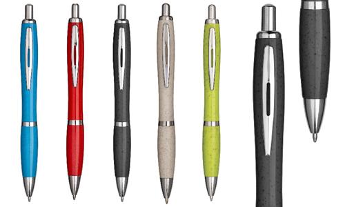 Penna a scatto in paglia di grano personalizzate