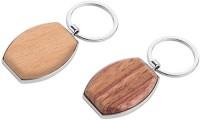 Portachiavi corpo in legno ovale