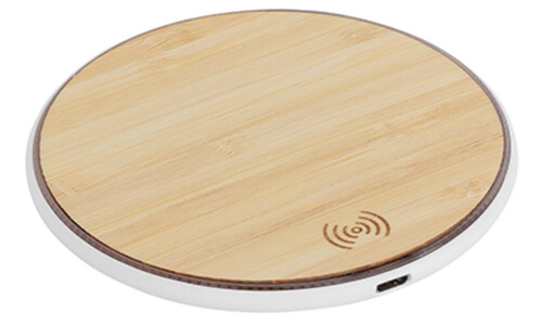 Caricatore Wireless BAMBOO RECHARGE personalizzabili