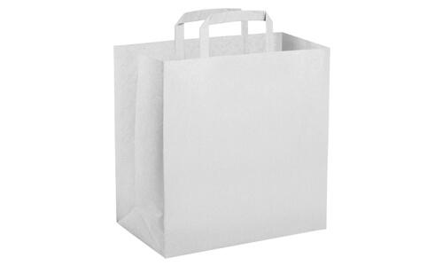 Sacchetti in carta kraft bianca 32x22x33 personalizzate