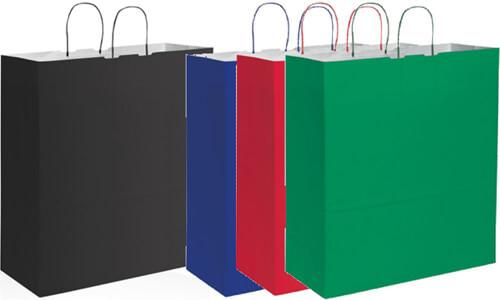 Shopper kraft bianca 36x41x12 Stampa il tuo logo