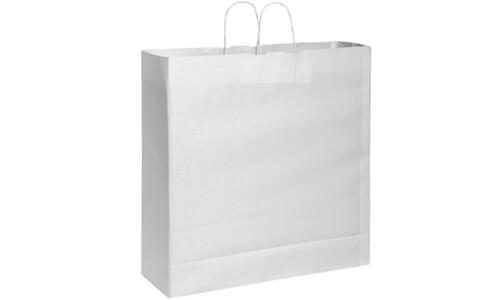 Sacchetti in carta kraft bianca 54x50x14 personalizzate