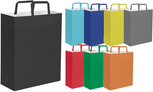 Shopper in carta carta kraft 26x39x14