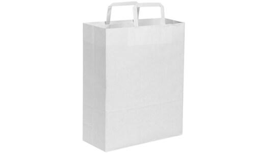 Sacchetti in carta kraft bianca 27x37x12 personalizzate