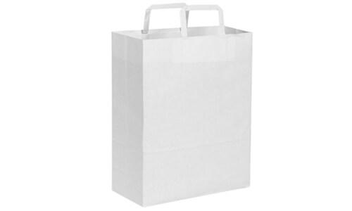 Sacchetti in carta kraft bianca 22x29x10 serigrafati